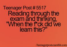 i definitely remember those exams!!! All of them!!!!!