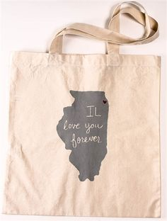 IL Love You Forever Tote from foursided