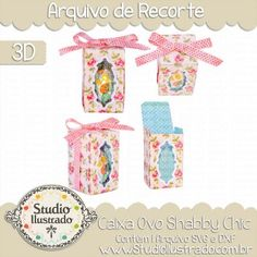 Shabby Chic, Silhouette Cameo, Studio, Box, Design, Egg Packaging, Box Templates, Happy Easter Day, Easter Eggs