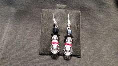 Swarovski Christmas Earrings Snowmen w/ Red Scarf by HolidayIguana