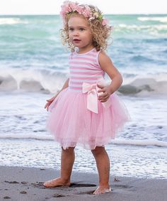 Pink Stripe Tutu Dress *so cute