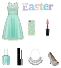 """""""Easter Outfit"""" by liafrancescaholmes ❤ liked on Polyvore featuring Damsel in a Dress, Casetify, MAC Cosmetics, Chanel and Essie"""