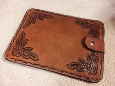 Hand Tooled Leather Tablet Case for Kindle Nook by craftomania, $39.95