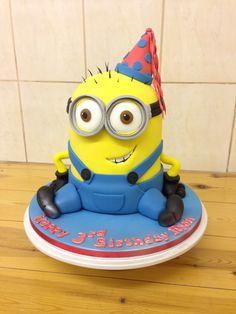 Novelty minion cake Minions, Minion Cakes, 40th Birthday, Sweet, Character, The Minions, 40 Birthday, Minion Stuff, Minion