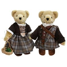 Claire & Jamie Teddy Bears ~ $47 ~ Outlander Christmas Gifts! http://amzn.to/2f5HpOF