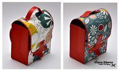 Mochila em 3D Ferramentas: scoring board (Martha Stewart)                       crop-a-dile (We R)                       corner chumper (We R)                       punch board gift bag (We R)
