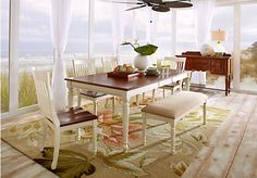 Cindy Crawford Home Ocean Grove White 5 Pc Dining Room w/White Chairs  from Dining Room Sets Furniture (www.roomstogo.com)