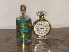POCKET WATCH CLOCK BOTTLE AVON & VINTAGE STYLE COLOGNE 4711~ STEAMPUNK DECOR.... On Ebay
