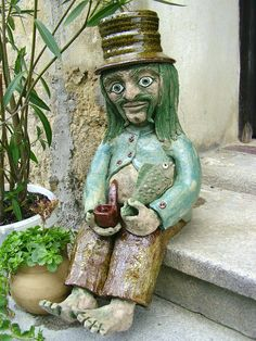 Clay People, Water Drip, Clay Faces, Gnomes, Sculpting, Scary, Creatures, Christmas Ornaments, Handmade