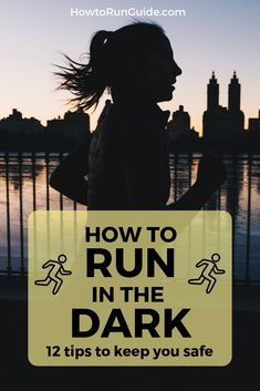 12 tips to run in the dark safely and effectively. Whether you run early morning or at night, these 12 tips will help you stay on track and run in the dark without missing a beat. Running Routine, Running Workouts, Running Tips, Learn To Run, How To Start Running, How To Run Faster, Running For Beginners, Workout For Beginners, Training Plan