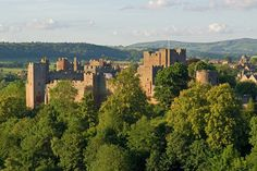 Ludlow Castle, Shropshire, home of Arthur Tudor as Prince of Wales, and home of Catharine of Aragon after her marriage to Arthur. He died here and was buried in Worcester Cathedral. Welsh Marches, Ludlow Castle, Worcester Cathedral, Norman Castle, Uk History, Tudor History, Catherine Of Aragon, Wars Of The Roses, Duke Of York