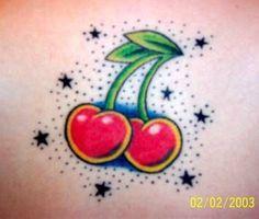 tattoo old school heart cherry - Google zoeken