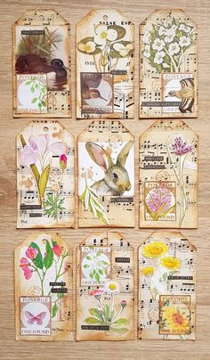Excellent Photo junk journal Embellishments Suggestions Crocheting very little styles can be a sensible way to generate your customized gadgets – brooches and hook Atc Cards, Card Tags, Gift Tags, Vintage Tags, Tag Art, Junk Journal, Journal Cards, Handmade Tags, Paper Tags