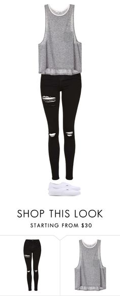 """""""Untitled #2273"""" by anisaortiz ❤ liked on Polyvore featuring Topshop and Vans"""