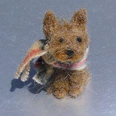 miniature felted yorkie