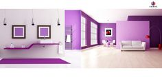 Purple color in ‪#‎interiors‬ add richness, luxury and the desire to lounge in a space