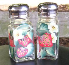 Hand Painted Salt Pepper Shakers And Gl Kitchen