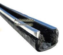 Stainless steel, car Window Channel with felt lining - BE/9/6