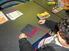 Card Loom Weaving the week before Christmas.