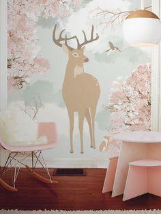 Little Hands Wallpaper Mural - Little Deer on Behance