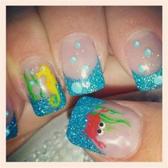 Ocean Nails by Glitzy21 from Nail Art Gallery
