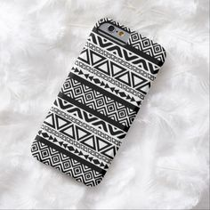 iPhone 6 Cases | Black White Aztec Tribal Pattern 4 iPhone 6 case