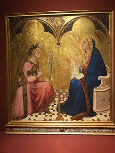 Ambrogio Lorenzetti, Annunciazione dell'Ufficio della Gabella, 1344. Pinacoteca di Siena