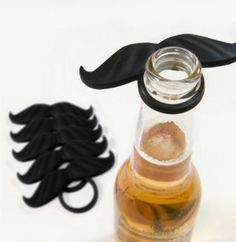 Amazon.com: Beer Mo Bottle Mustaches (Pack of 12): Toys & Games