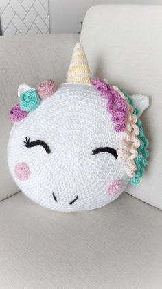Unicorn/ unicorn gift/ crochet pattern/ unicorn pattern/ knit unicorn/ unicorn room decor/ stuffed unicorn/ pillow pattern/ knit pillow – The Best Ideas Crochet Patterns Amigurumi, Crochet Blanket Patterns, Knitting Patterns, Hat Patterns, Knitting Blogs, Animal Patterns, Crochet Gifts, Crochet Toys, Crochet Baby