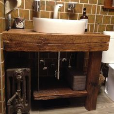 12 Of the Coolest Ways How to Upgrade Bathroom Vanity Design Plans Woman Always love to do making-up in order to find the more beautiful look in each state. In this matter, they'll need Bathroom Vanity Design Plans. Rustic Bathroom Cabinet, Reclaimed Wood Bathroom Vanity, Bathroom Sink Units, Bathroom Vanity Designs, Rustic Vanity, Rustic Bathrooms, Bathroom Ideas, Bathroom Furniture, Bathrooms