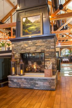 New England Stone Fireplace and Stone Oven at Copper Door Restaurant - traditional - dining room - boston - by Stoneyard.com