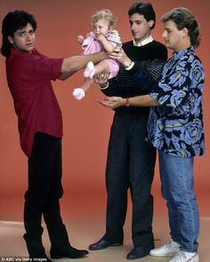 Oh baby: His Full House character Uncle Jesse was initially hopeless with babies but soon became a master