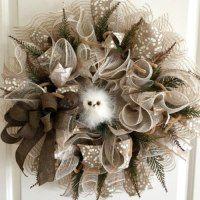burlap and mesh wreath