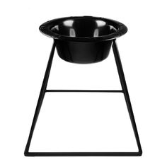 Platinum Pets Pyramid Diner Stand with 4-Cup Stainless Steel Bowl, Midnight Black ** Wow! I love this. Check it out now! : Feeding and Watering Supplies