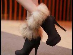 Fashion Fox sexy -High Heels Boots I love High Heel Boots, Heeled Boots, Bootie Boots, Shoe Boots, Shoes Heels, Ankle Boots, Ugg Boots, Boot Heels, Fur Heels