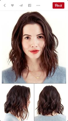 Wanna spice up your hairstyle but don't want to all short? Long bob hairstyle is perfect for you! With these 20 Trendy Long Bob Hairstyles you will look stylish Medium Hair Cuts, Medium Hair Styles, Short Hair Styles, Natural Wavy Hair Cuts, Medium Curly, Bob Styles, Haircuts For Wavy Hair, Long Bob Haircuts, Lob Hair With Bangs