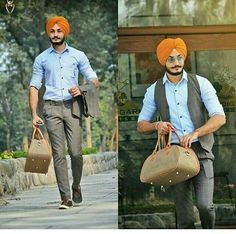 Diy Fashion, Mens Fashion, Fashion Outfits, Turban Fashion, Fashion Styles, Fashion Trends, Punjabi Boys, Punjabi Culture, Brown Suits
