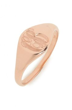 ariel gordon for BaubleBar! customizable rose gold signet ring - comes in silver and gold, too!