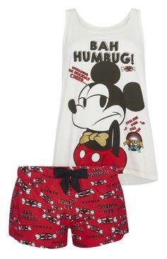 Primark - �Micky Maus� Pyjamaset mit Top u. Shorts