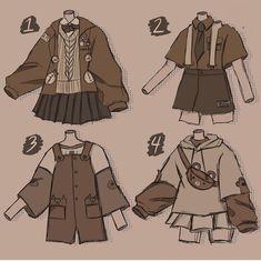 Art Drawings Sketches Simple, Kawaii Drawings, Cute Drawings, Outfit Drawings, Cute Art Styles, Cartoon Art Styles, Cartoon Outfits, Anime Outfits, Art Inspiration Drawing