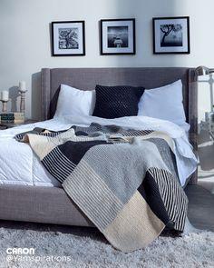 Essential Stripes Knit Blanket - Patterns | Yarnspirations