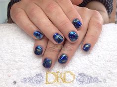 www.DivineByDesignBeauty.com.  Galaxy inspired hand painted nails using CND Shellac & CND Additives xDBDx