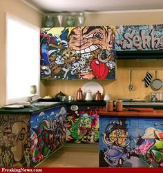 Graffiti Art Kitchen Design