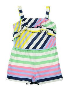 Tropical Stripe Romper
