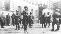 Jürgen Stroop, the SS commander at Warsaw. Jürgen Stroop is the one looking at a paper or a map,on the right. Soldiers around him stand at the ready, indicating that he is in or close to the Jewish Ghetto. Stroop was born at Detmold, North Rhine-Westphalia, on September 26, 1895. He fought as an enlisted man in World War I, winning the Iron Cross 2nd Class. Stroop joined the Nazi Party and SS in the 1930s. In 1941, Stroop fought on the Russian Front with the 3rd SS Totenkopf Division…
