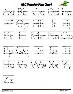 Alphabet Letter Writing Chart:Use these charts