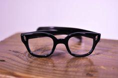 1950s Men's Thick Black Frame Vintage Eye Glasses by by HipZipper, $78.00