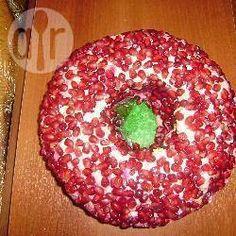 Russischer Schichtsalat mit Granatapfel