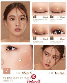 "Korean makeup tutorials: Use a ""hot spray"" just before running your hair before . - Korean makeup tutorials: Use a ""hot spray"" just before runn. Asian Makeup Looks, Korean Makeup Look, Korean Makeup Tips, Asian Eye Makeup, Asian Retro Makeup, Big Eye Makeup, Korean Makeup Products, Asian Makeup Natural, Asian Makeup Tutorials"