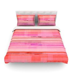 East Urban Home Starwberry Shortcake by CarolLynn Tice Featherweight Duvet Cover Size: